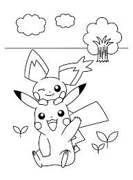 Pokemon Paradijs Kleurplaat Pichu En Pikachu