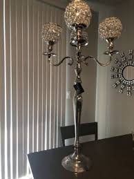 nicole miller home standing candle stick chandler silver mirror crystal rhinestone decoration for in chandler