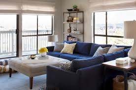 navy blue sectional sofa living room contemporary with