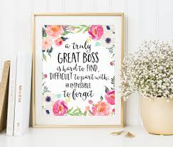 find a job boss gift a truly great boss is hard to office gift office decor going away retirement gift personalized custom quote print