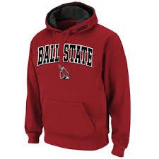 ball state apparel. stadium athletic ball state cardinals cardinal arch \u0026 logo pullover hoodie apparel e