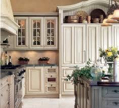 Antique White Kitchen Antique White Kitchen Cabinets Kitchen Mediterranean With