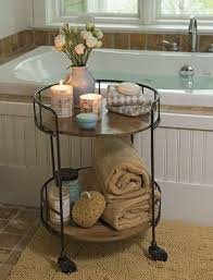 bathroom accent furniture. rustic side table astoria rolling accent industrial vibe need some kind of like this in the master bathroom furniture o