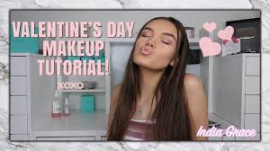 affordable pink romantic valentine s day makeup tutorial giveaway india grace makeup beauty videos lifestyle beauty