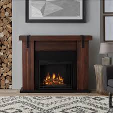 real flame aspen 49 in freestanding electric fireplace tv stand in chestnut barnwood