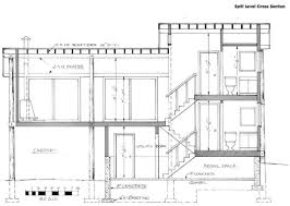 Split Level Stairs  Cross Section SplitLevel House - Split level house interior