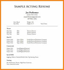 Free Actor Resume Template Extraordinary Theatre Resume Exampletheatricalresumetemplatefreeactorresume