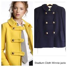 s j crew pea coats for women on