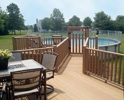 above ground pool with deck attached to house. Above Ground Pool Deck Ideas And Plans - Buzzle Web Portal With Attached To House W