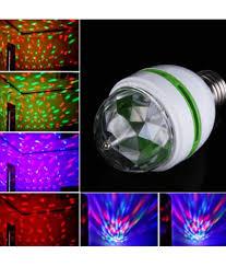 Buy Colorful Led Stage Light E27 3 W Auto Rotating Rgb Led
