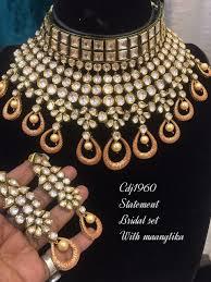 indian beautiful statement choker kundan pearls bridal jewelry festive occasion uiihid19456 necklaces pendants