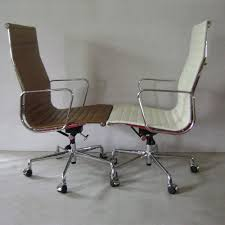 Eames style office chairs Brown Leather Eames Style Aluminum Office Chair Modern Furnituredesigner Furnitureclassic Furnitureideacollection Eames Style Aluminum Office Chairideacollection