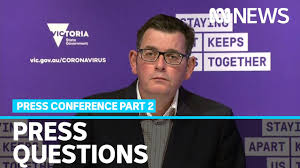 Victorian premier daniel andrews speaks to the media during a press conference in melbourne. Dan Andrews Answers Questions After Announcing Melbourne Metro To Go Back Into Lockdown Abc News Youtube