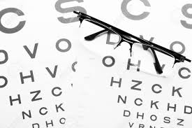 Medical Metric Chart Eye Glasses On Eyesight Test Chart Ortometric Table Background