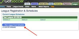 How To Make A League Schedule How To Create A League And Entering Basic Information
