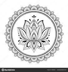 Circulaire Patroon Vorm Van Mandala Voor Henna Mehndi Tatoeage