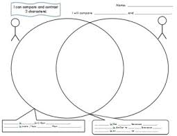 Venn Diagram Character Comparison Character Comparison Venn Diagram And Rubric By Michelles Makings