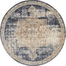 main unique loom 4 x 4 cau round rug photo