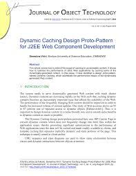 J2ee Design Pdf Dynamic Caching Design Proto Pattern For J2ee Web