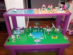 the lego friends table we made rangement jouet table de jeux miniatures pour