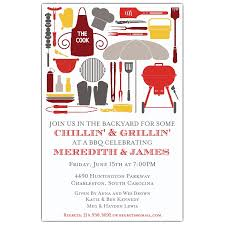 Barbeque Invitation Cookout Silhouettes Bbq Invitations Paperstyle