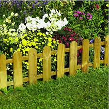 garden border. Wickes Timber Picket Fence Style Border Edging - 280 X 1100 Mm | Wickes.co.uk Garden A