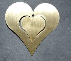 Messing Herz In Herz 10cm Zum Hängen Edelrost Rost Deko