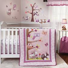 image of baby girl nursery bedding sets purple