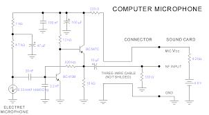 wiring pre circuit diagram computer microphone by bc547 computer microphone by bc547