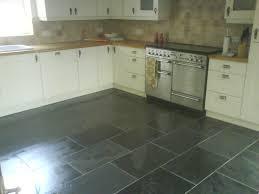 Slate Tile Kitchen Floor Pictures attractive black tile floor 1