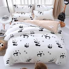 panda bedspread cartoon panda bedding set black white duvet cover bed set single