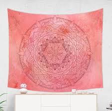raspberry mandala tapestry red mandala