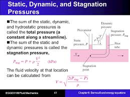 total pressure equation. static, dynamic, and stagnation pressures total pressure equation