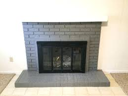 paint your brick fireplace in two easy steps the quick and way to gray white with