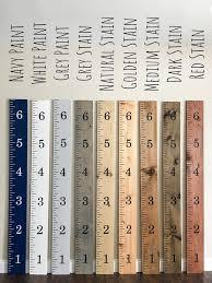 Wooden Ruler Growth Chart Growth Chart Nursery Decor Baby