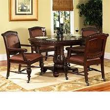 ayden 5 pc caster dining set 54 round dining table 4 castered