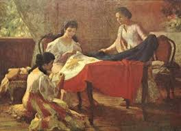 the making of the philippine flag by national artist fernando amorsolo the flag