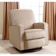 Swivel Recliner Chairs For Living Room Abbyson Living Bella Nursery Swivel Glider Recliner Chair Fabric