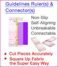 Quilting Tools for No Math Quilting, Accurate 1/4