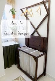 laundry furniture. DIY Tutorial For Making Your Own Laundry Sorting Hamper + Hanging Rod | The Project Lady Furniture D