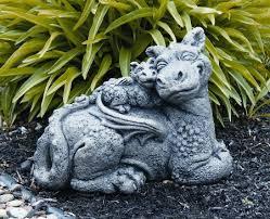 dragon garden statues. Cast Stone Dragon Garden Statues D