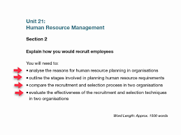 unit human resources management assignment