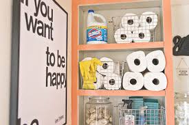 view in gallery storage in the laundry room