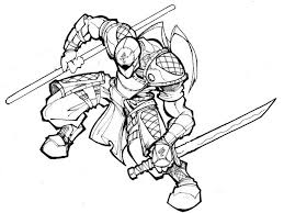 A ninja warrior in the fight. Get This Ninja Coloring Pages Free Printable E52m