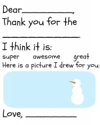 Free Childrens Thank You Printable The Happier Homemaker