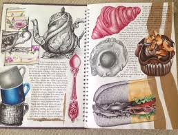 page from tea for two as art sketchbook