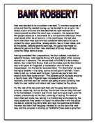 persuasive writing for a listening audience on child abuse a  original writing prose bank robbery