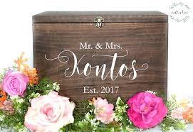 wood wedding card box diy ideas with slot