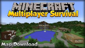 minecraft multiplayer survival map download  tutorial  youtube