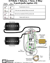 pickup wiring diagram seymour duncan p rails wiring diagram 2 p rails 1 vol 1 tone seymour duncan p